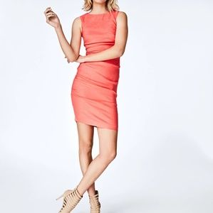 Nicole Miller linen bodycon dress
